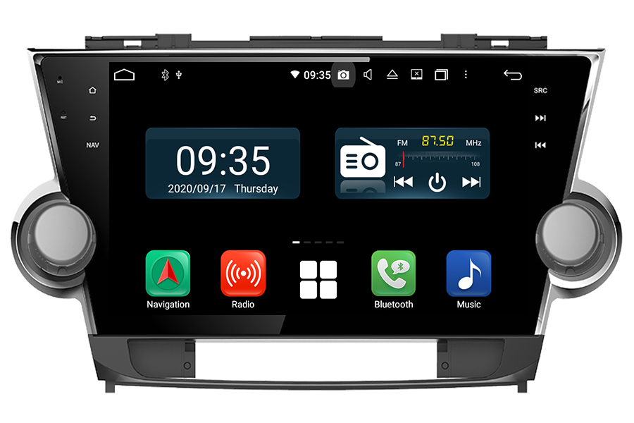 Toyota Highlander 2008-2013 Aftermarket Radio Upgrade