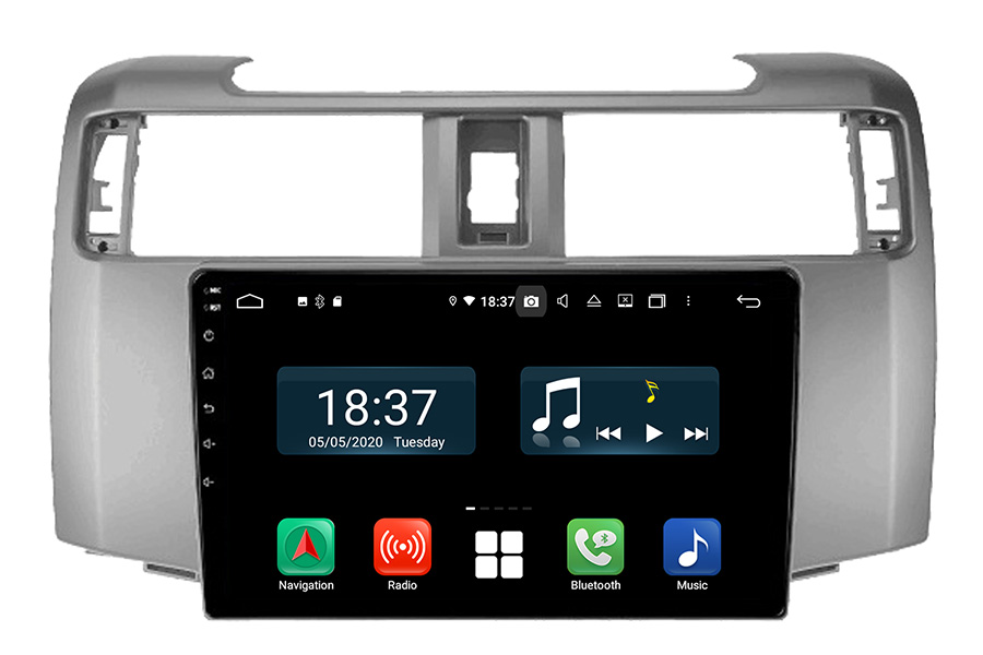 Toyota 4Runner 2015-2019 Android aftermarket head unit radio upgrade (free backup camera)