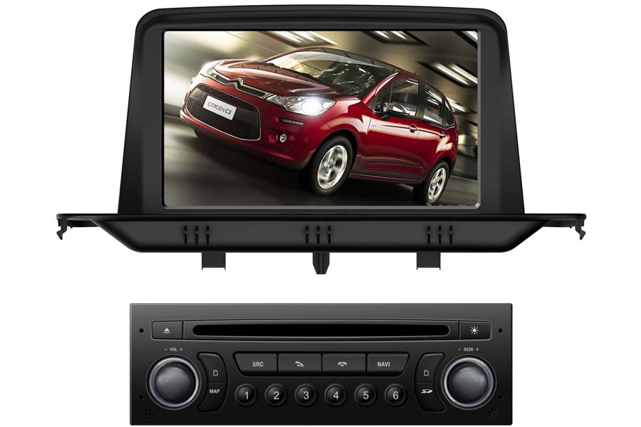 Citroen C3 2013 Car DVD Player With Navigation