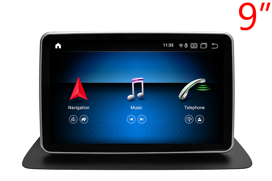Mercedes-Benz GL(X166)/ML(W166) radio upgrade with 9 inch screen