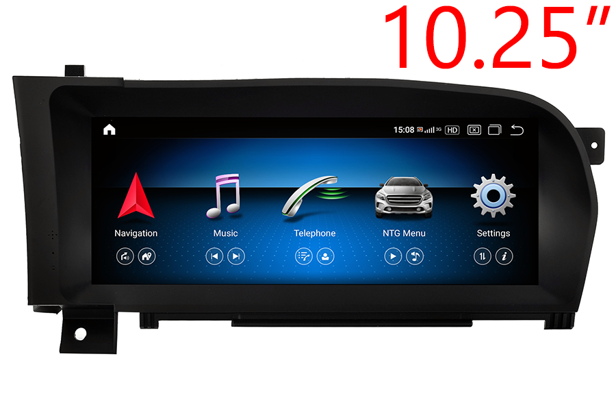 """Mercedes-Benz CL-class (C216) S-class(W221) radio upgrade with 10.25"""" screen"""