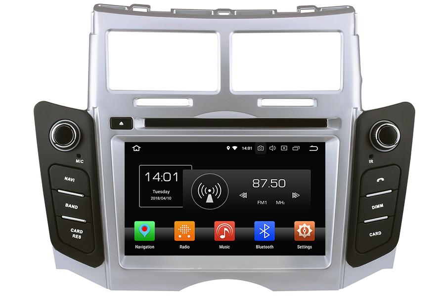 Toyota Yaris 2005-2011 Autoradio GPS Aftermarket Android Head Unit Navigation Car Stereo