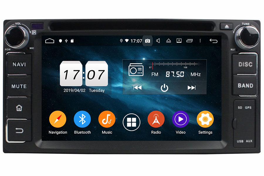 Toyota Hilus corolla camry yaris Double Din Autoradio GPS Aftermarket Android Head Unit Navigation Car Stereo