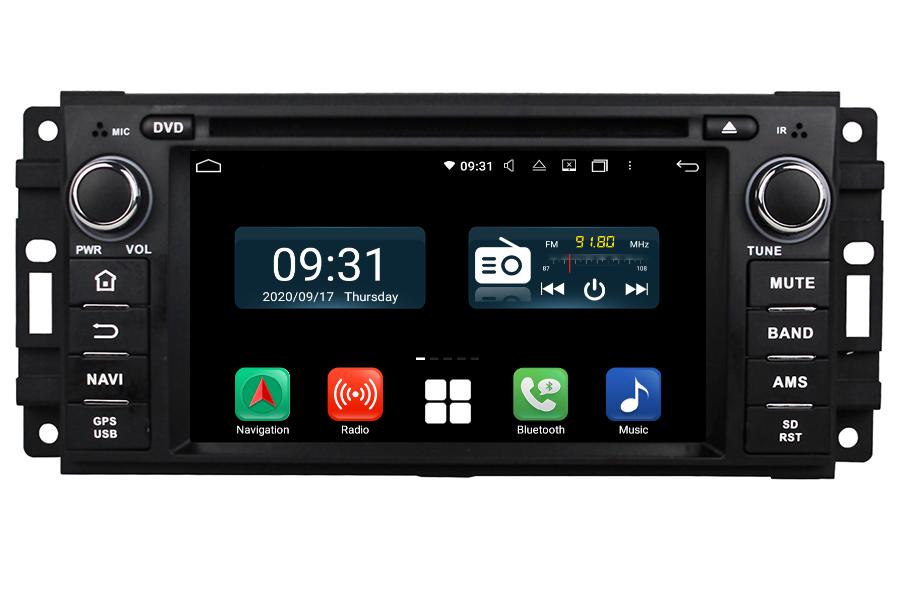 Dodge Series 2007-2014 Autoradio GPS Aftermarket Android Head Unit Navigation Car Stereo