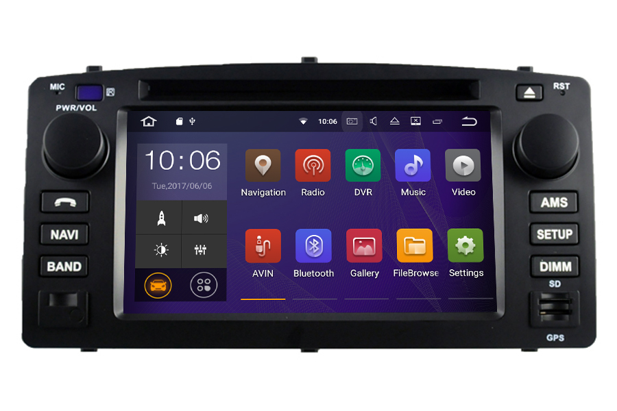 Toyota Corolla E120 2004-2007 Autoradio GPS Aftermarket Android Head Unit Navigation Car Stereo