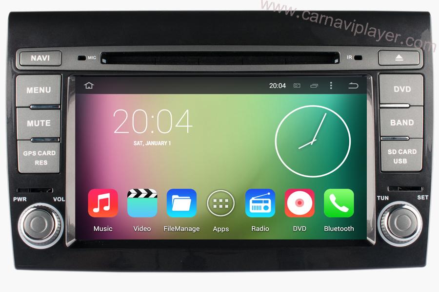 Fiat Bravo 2007-2012 Autoradio GPS Aftermarket Android Head Unit Navigation Car Stereo