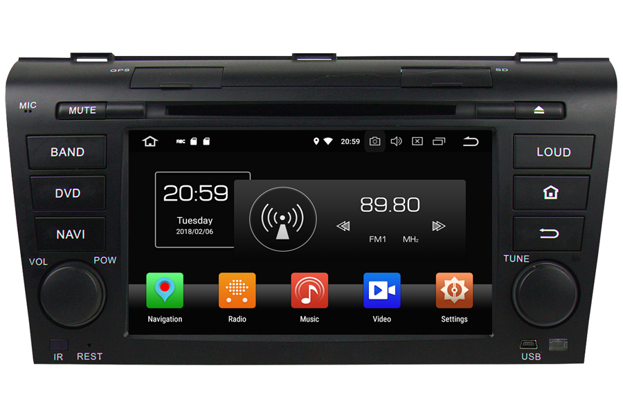 Mazda 3 2004-2009 Autoradio GPS Aftermarket Android Head Unit Navigation Car Stereo