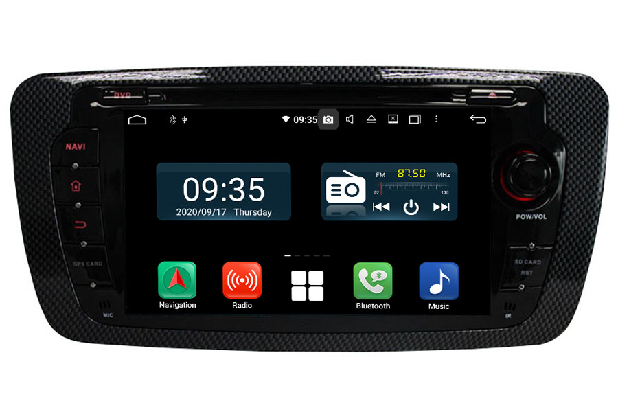 Seat Ibiza 2008-2013 Autoradio GPS Aftermarket Android Head Unit Navigation Car Stereo