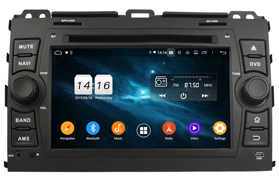 Toyota Land Cruiser J120 2002-2009 Autoradio GPS Aftermarket Android Head Unit Navigation Car Stereo