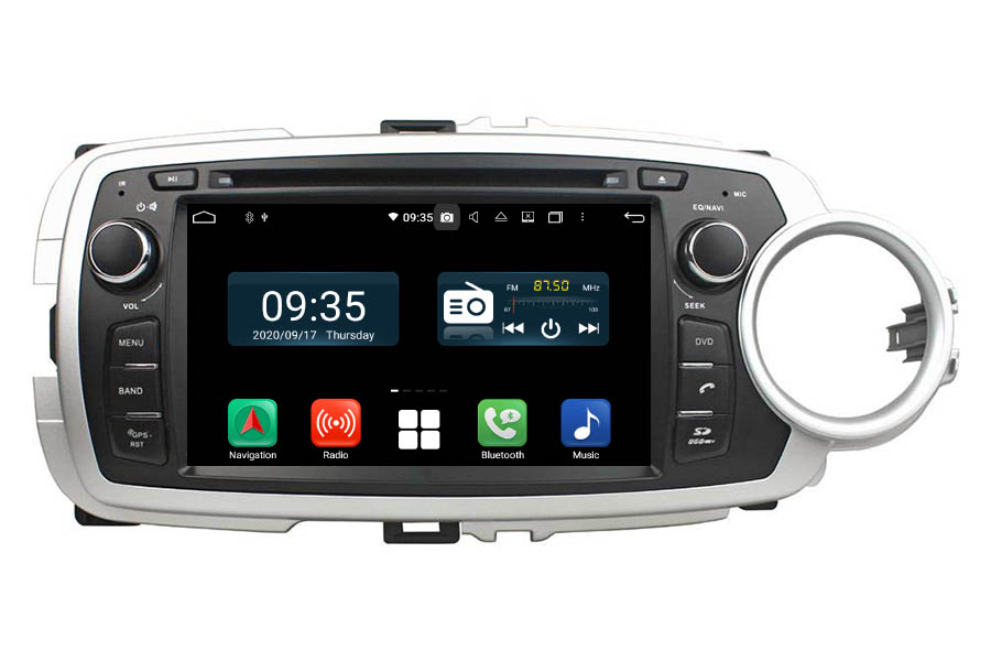 Toyota Yaris 2012-2013 RHD Aftermarket Radio Upgrade