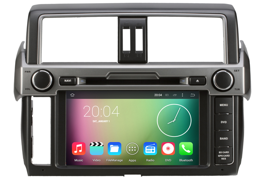 Toyota Land Cruiser Prado 2014-2015 Autoradio GPS Aftermarket Android Head Unit Navigation Car Stereo