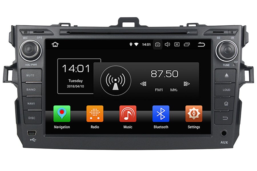 Toyota Corolla 2007-2013 Autoradio GPS Aftermarket Android Head Unit Navigation Car Stereo
