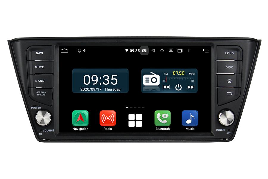 Skoda Fabia 2015-2017 radio upgrade aftermarket android head unit navigation car stereo
