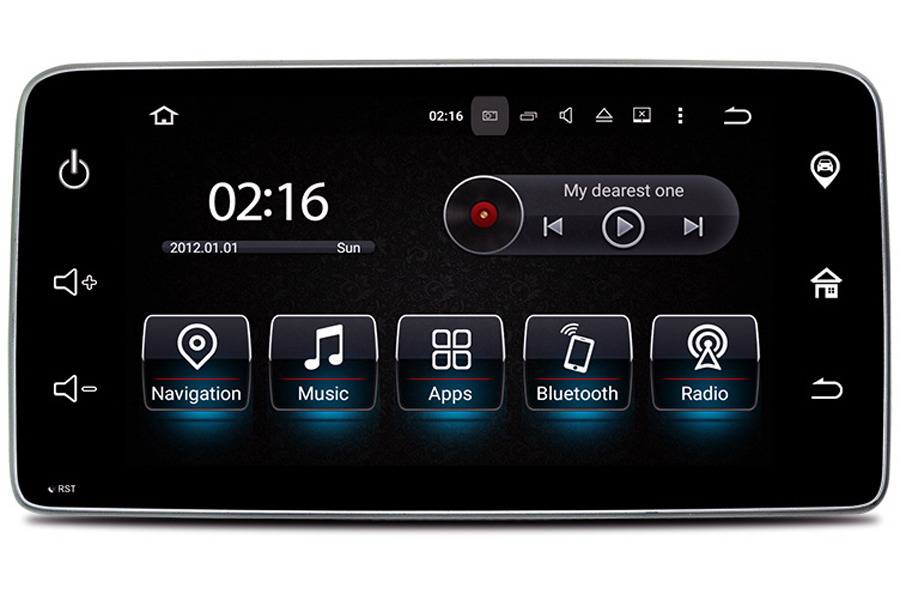 Smart Fortwo 2015-2018 Autoradio GPS Aftermarket Android Head Unit Navigation Car Stereo