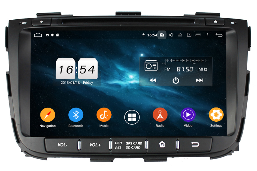 Kia Sorento 2013-2014 Autoradio GPS Aftermarket Android Head Unit Navigation Car Stereo