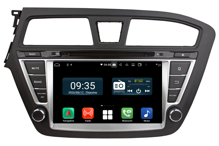 Hyundai i20 2014-2015 LHD Aftermarket Radio Upgrade