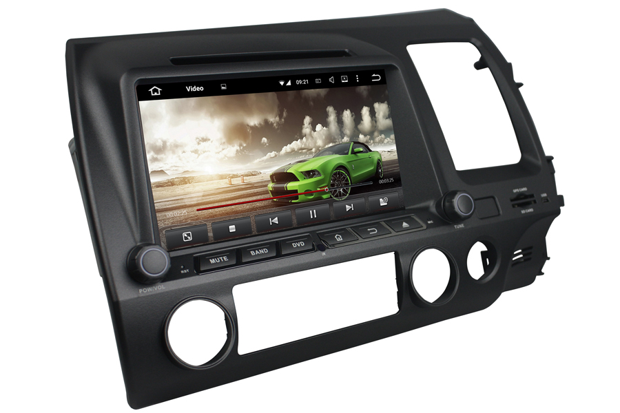 Honda Civic 2006-2011 Autoradio GPS Aftermarket Android Head Unit Navigation Car Stereo
