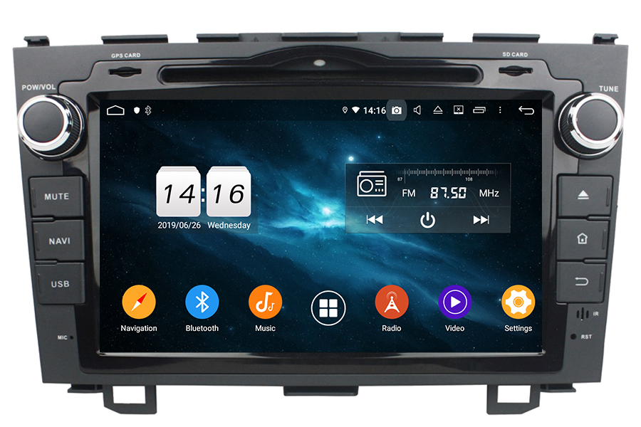 Honda CR-V 2007-2011 Autoradio GPS Aftermarket Android Head Unit Navigation Car Stereo