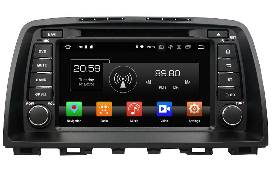 Mazda 6 2012-2014 Autoradio GPS Aftermarket Android Head Unit Navigation Car Stereo