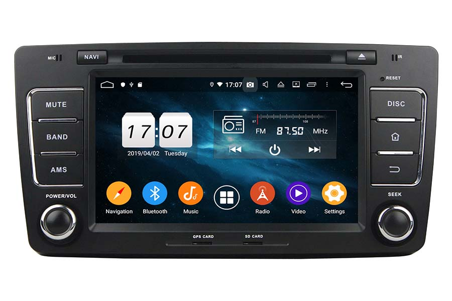 Skoda Octavia 2012 Autoradio GPS Aftermarket Android Head Unit Navigation Car Stereo