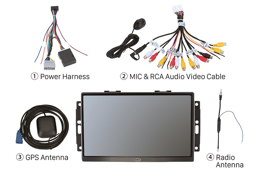 Dodge Factory 2004-2008 Autoradio GPS Aftermarket Android Head Unit Navigation Car Stereo