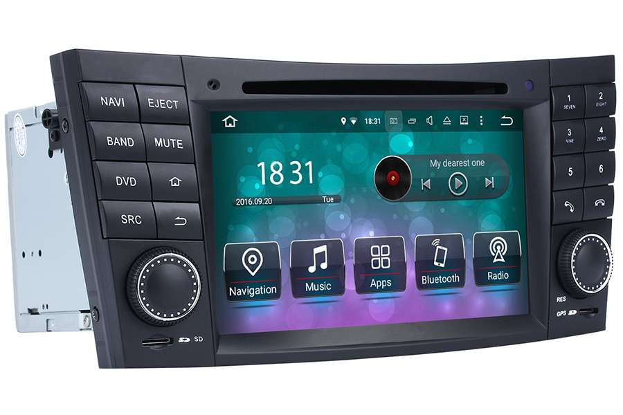Mercedes-Benz CLS-Class (W219)/E-Class (W211)/G-Class (W463) 2001-2010 Autoradio GPS Aftermarket Android Head Unit Navigation Car Stereo