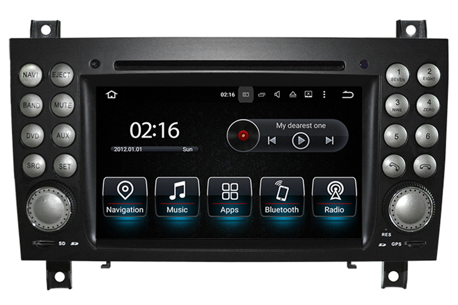 Mercedes-Benz SLK-Class (R171) 2004-2010 Autoradio GPS Aftermarket Android Head Unit Navigation Car Stereo