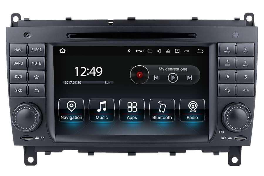 Mercedes-Benz CLK-Class (C209/W209) 2005-2009 Autoradio GPS Aftermarket Android Head Unit Navigation Car Stereo