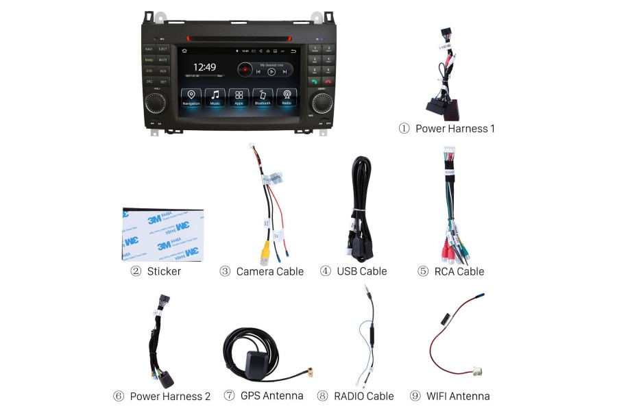 Mercedes-Benz Series/VW Crafter 2004-2016 Autoradio GPS Aftermarket Android Head Unit Navigation Car Stereo