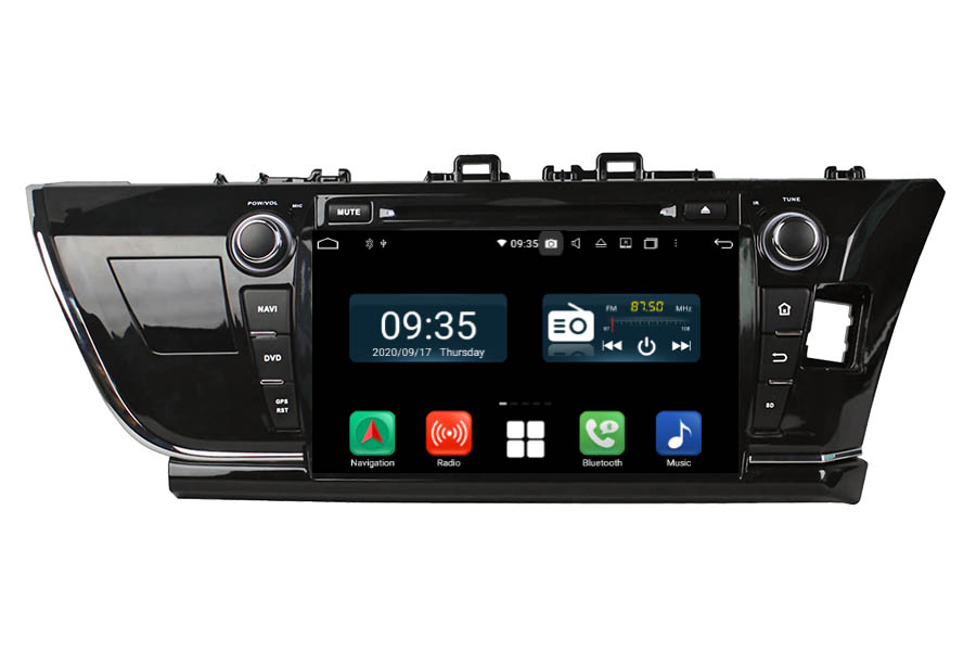 Toyota Corolla 2013-2016 RHD Aftermarket Radio Upgrade