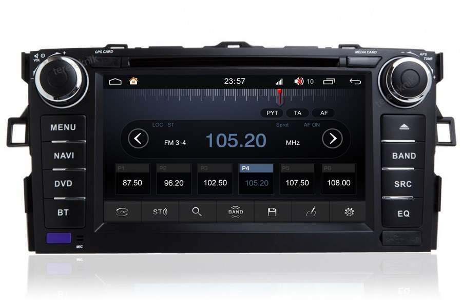 Toyota Corolla/Auris 2007-2012 Autoradio GPS Aftermarket Android Head Unit Navigation Car Stereo