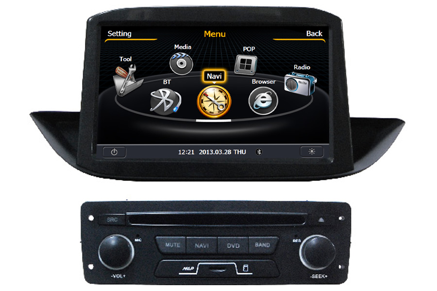 Peugeot 308 2013 Autoradio GPS Aftermarket Android Head Unit Navigation Car Stereo