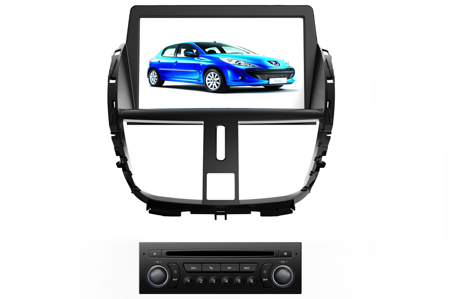 Peugeot 207 2009-2013 Autoradio GPS Aftermarket Android Head Unit Navigation Car Stereo
