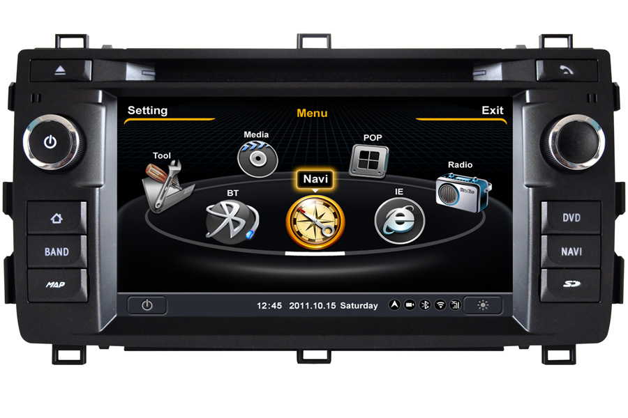 Toyota Auris 2013-2014 Autoradio GPS Aftermarket Android Head Unit Navigation Car Stereo