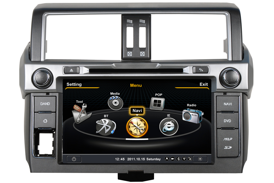 Toyota Land Cruiser Prado 2014 Autoradio GPS Aftermarket Android Head Unit Navigation Car Stereo