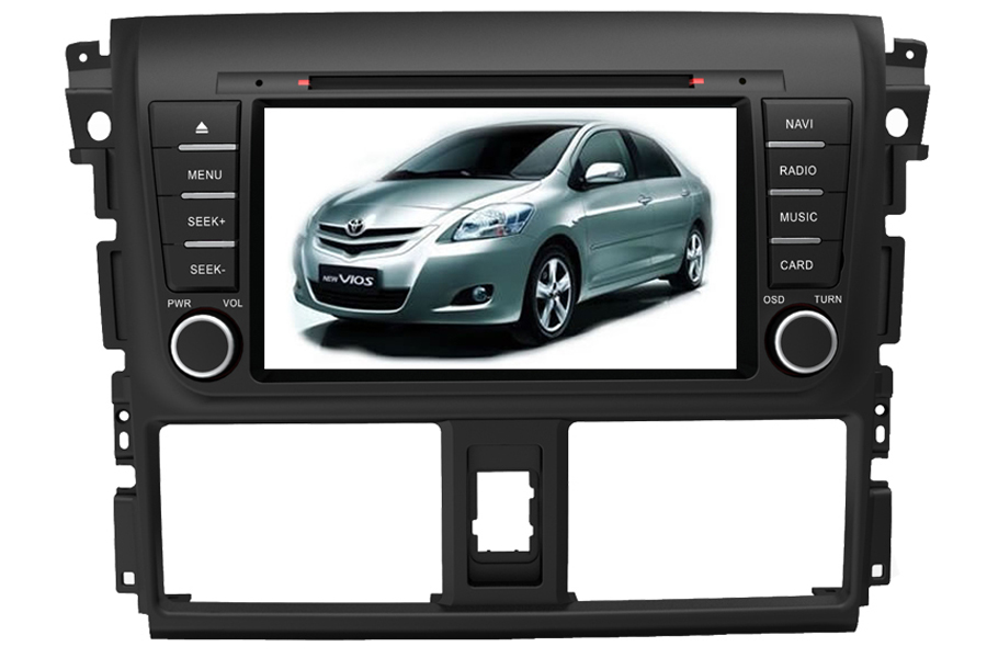 Toyota Vios 2013 Autoradio GPS Aftermarket Android Head Unit Navigation Car Stereo
