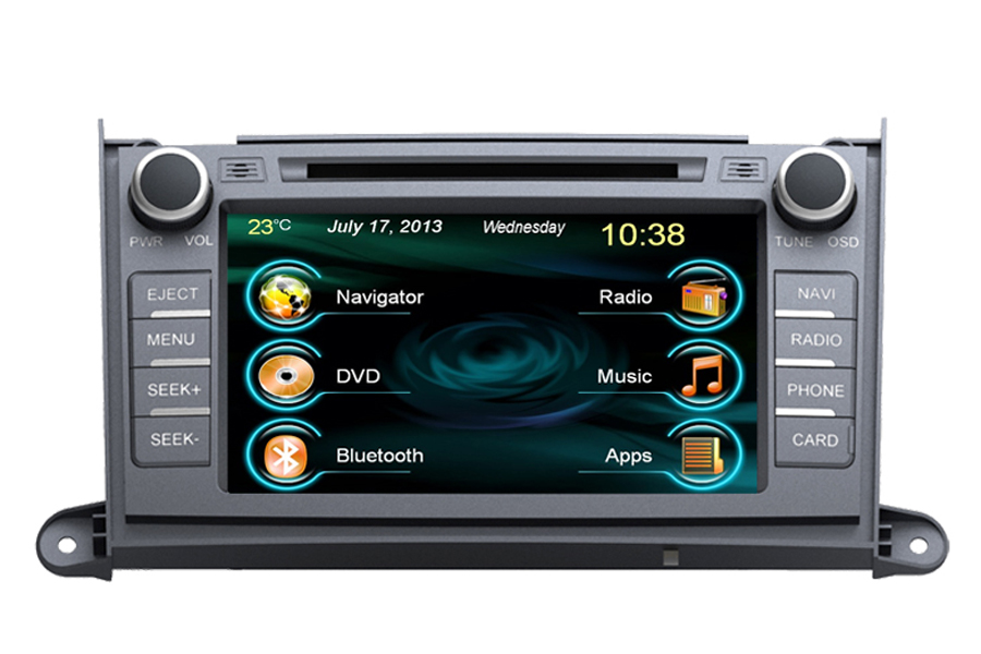 Toyota Sienna 2011-2013 Autoradio GPS Aftermarket Android Head Unit Navigation Car Stereo