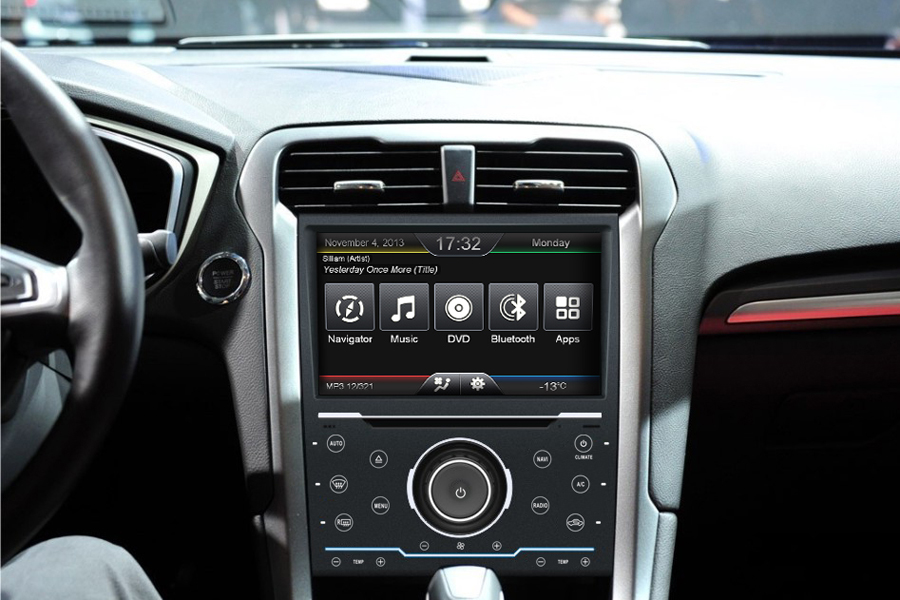 Ford Mondeo 2013 Autoradio GPS Aftermarket Android Head Unit Navigation Car Stereo