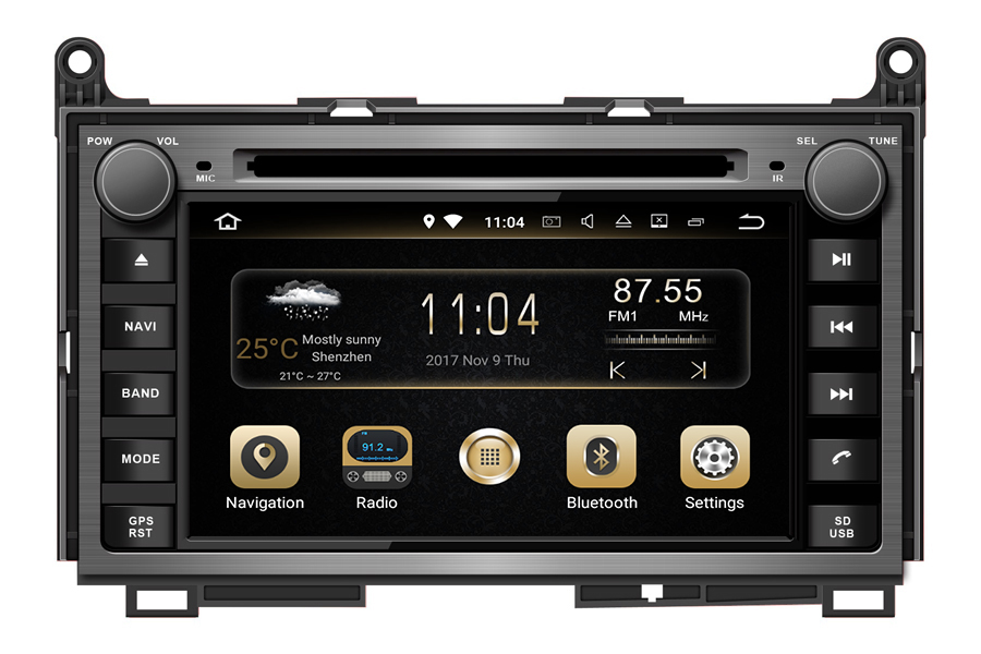 Toyota Venza 2008-2013 Autoradio GPS Aftermarket Android Head Unit Navigation Car Stereo