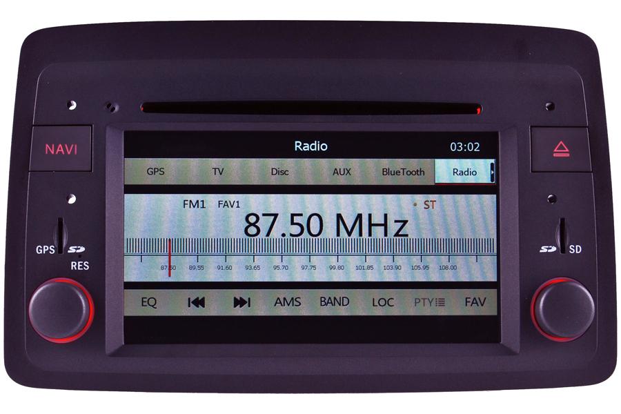 Fiat Panda 2004-2012 Autoradio GPS Aftermarket Android Head Unit Navigation Car Stereo