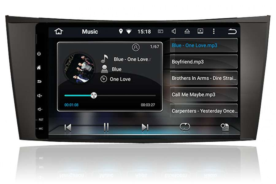 Mercedes-Benz CLS-Class (W219)/E-Class (W211)/G-Class (W463) 2001-2010 Autoradio GPS Aftermarket Android Head Unit Navigation Car Stereo