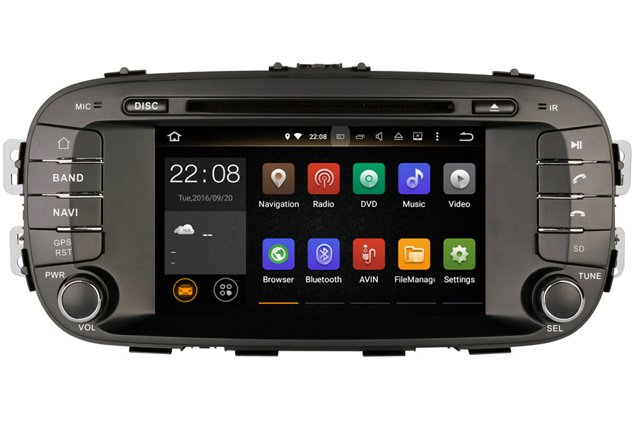 Kia Soul 2014-2016 Autoradio GPS Aftermarket Android Head Unit Navigation Car Stereo