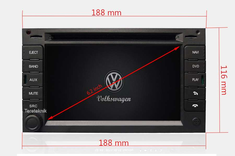 VW/Peugeot/Seat/Skoda/Ford Autoradio GPS Aftermarket Android Head Unit Navigation Car Stereo