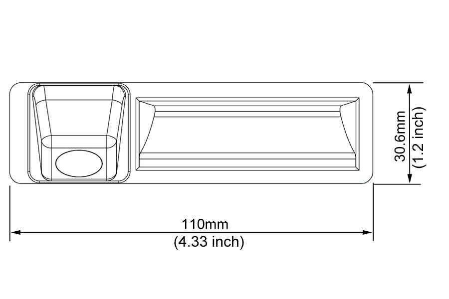 Audi A3/A4/A5/A6L/A8/Q7/S5 Tailgate Handle Reverse Camera