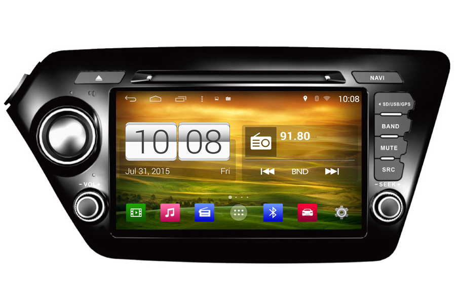 Kia K2/Rio 2011-2013 Autoradio GPS Aftermarket Android Head Unit Navigation Car Stereo