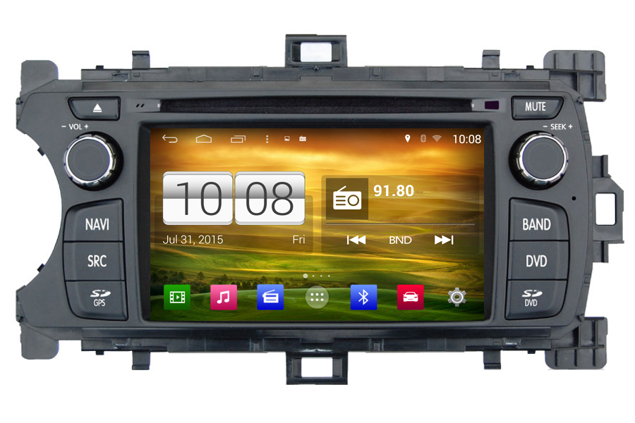 Toyota Yaris 2012-2013 Autoradio GPS Aftermarket Android Head Unit Navigation Car Stereo