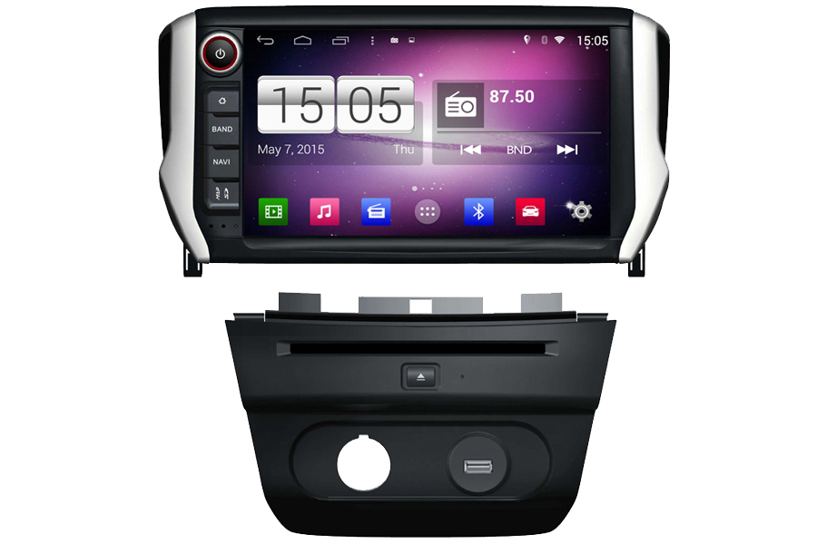 Peugeot 2008 Autoradio GPS Aftermarket Android Head Unit Navigation Car Stereo
