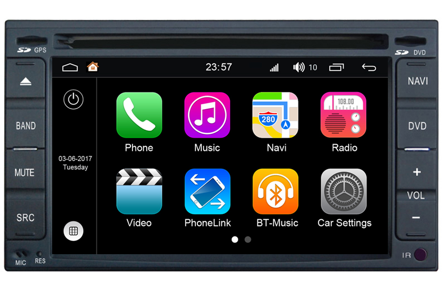 Hyundai Series 2000-2006 Double Din Autoradio GPS Aftermarket Android Head Unit Navigation Car Stereo