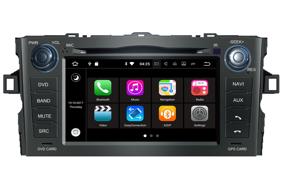 Toyota Auris 2007-2012 Autoradio GPS Aftermarket Android Head Unit Navigation Car Stereo