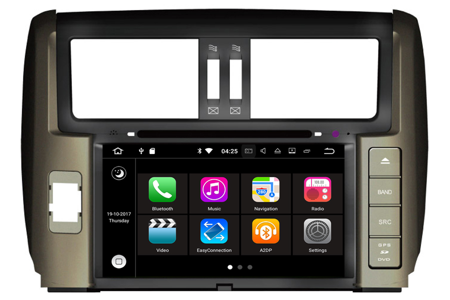 Toyota Land Cruiser Prado J150 2009-2013 Autoradio GPS Aftermarket Android Head Unit Navigation Car Stereo